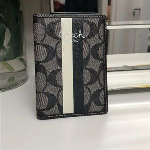 Authentic Coach Passport Holder